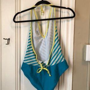 Lacoste Swim - Lacoste deep v one piece bathing suit